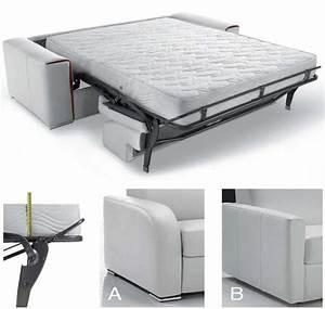 canape lit rapido en cuir avec matelas 18 cm verysofa renoir With canape lit tres haut de gamme