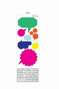 2x4 cartoon bubbles pack a giant wall stickers wall With 2x4 stickers