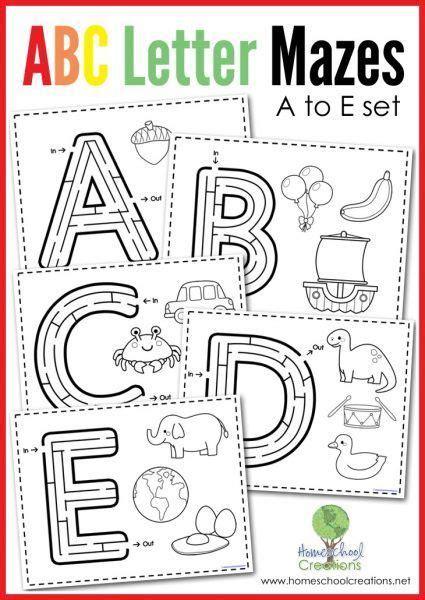 abc letter mazes     images alphabet