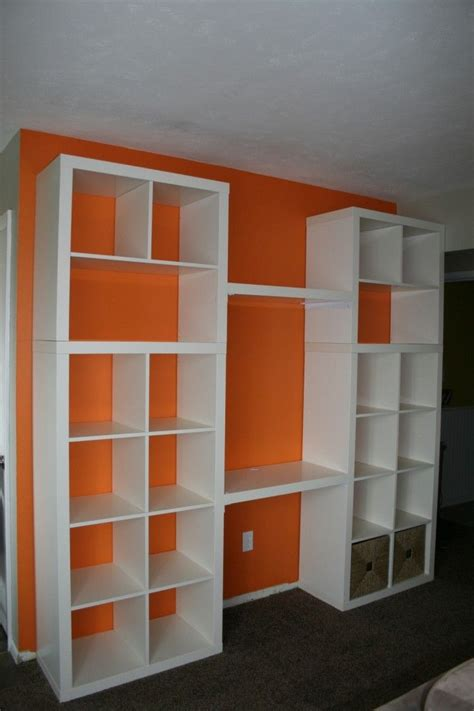 office desk with bookcase and shelving bookcase built in ikea hack projects for the house