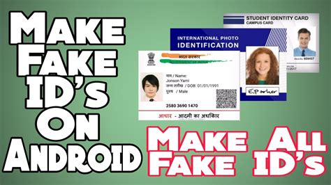 How To Make Fake Id's On Android Easily