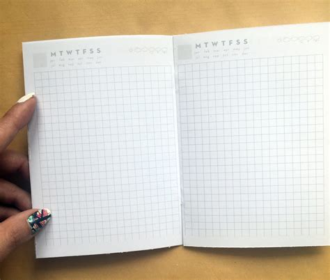 travelers notebook printable inserts undated daily pages