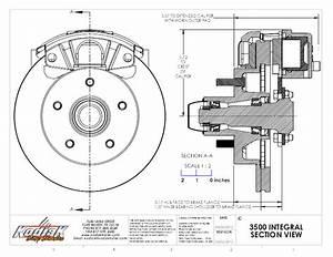 Kodiak Boat Trailer Slip On Disc Brake Kit All Dacromet 5 Lug