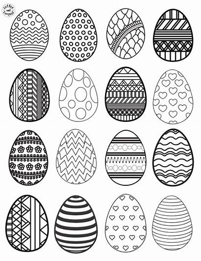 Easter Egg Paper Coloring Plate Craft Eggs