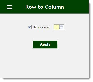 excel row  column view headers  values