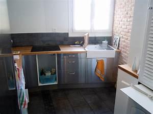 Evier Cuisine Ceramique : meuble cuisine evier integre evier intgr evier cuisine ~ Premium-room.com Idées de Décoration