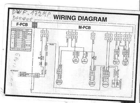 necesito el diagrama de lavadora daewoo dwf 1198p yoreparo