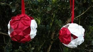 Origami Boule De Noel : hd tuto faire une boule de no l en origami make an origami christmas ball youtube ~ Farleysfitness.com Idées de Décoration