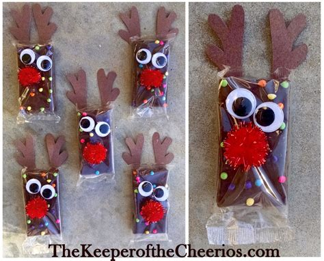 christmas ideas for school rudolph reindeer brownies the keeper of the cheerios