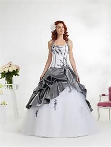 Robe mariee blanche et grise le mariage for Robe de mariée grise