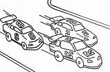 Coloring Pages Colouring Cars Track Template Street Racers sketch template