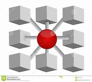 Network Cubes And Sphere Diagram Stock Illustration