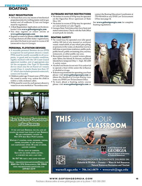 Boating License Restrictions by Ga Fish Simplebooklet