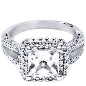 wedding rings for princess cut halo ring two carat princess cut halo ring