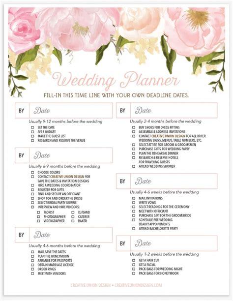 Bridal Shower Preparation by Creative Union Design Wedding Planner Checklist