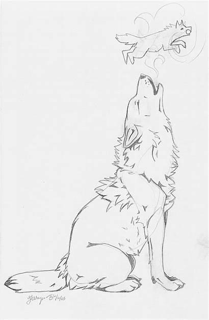 Wolf Howling Tattoo Tattoos Drawing Deviantart Idea