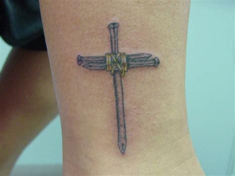 Small Nail Cross Tattoo Design Busbones