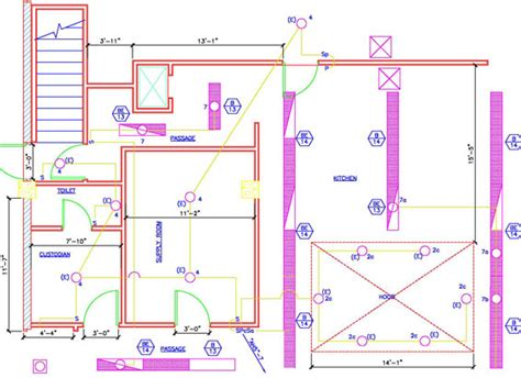 country floor electrical plans and panel layouts design presentation