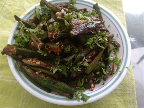 This easy ladyfinger recipe has just 5 ingredients and is quick to bake up. Sauteed Bhindi (Ladyfingers/Okra)   Recipes, Cookery, Easy meals
