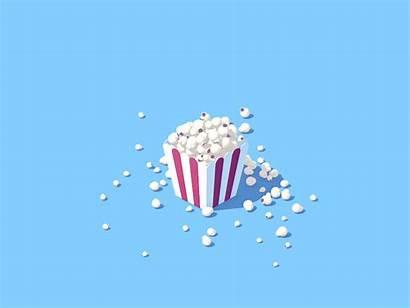 Popcorn Animated Gifs Inspiration Aesthetic Dribbble Motion