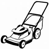 Lawn Mower Clipart Coloring Pages sketch template