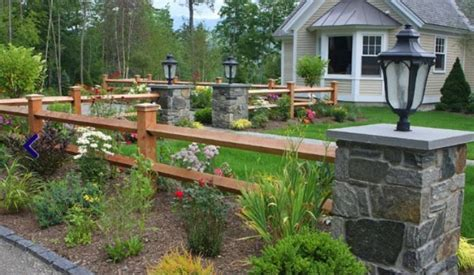 split rail fence landscaping ideas split rail fence with stone posts coming down the hill