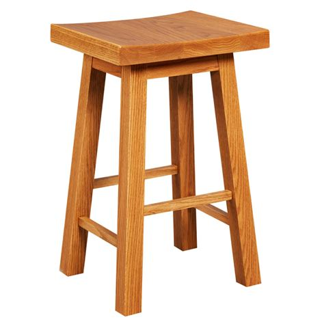 stool counter amana height saddle seat mission stools rustic oak chairs dining shown amanashops