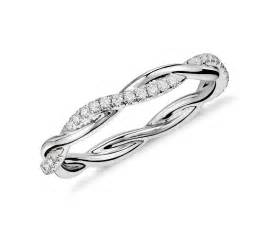 twisted engagement rings twist eternity ring in 14k white gold 1 5 ct tw blue nile