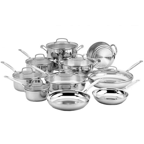 cookware cuisinart chef piece classic 17n stainless steel depot sets