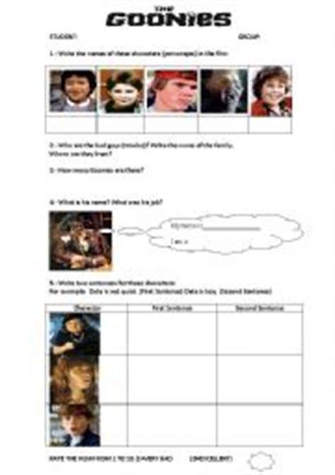 the goonies worksheet worksheets the goonies