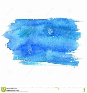 Tache De Couleur Peinture Fond Blanc : tache bleue d 39 aquarelle d 39 isolement sur le fond blanc texture artistique de peinture photo stock ~ Melissatoandfro.com Idées de Décoration