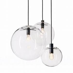 Luminaire Boule Verre : suspension luminaire boule id e de luminaire et lampe maison ~ Teatrodelosmanantiales.com Idées de Décoration