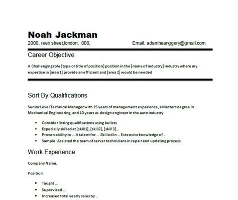 job objectives on a resumes how to write career objective with sample