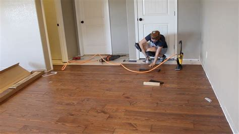 First Time Laying Hardwood Flooring   YouTube