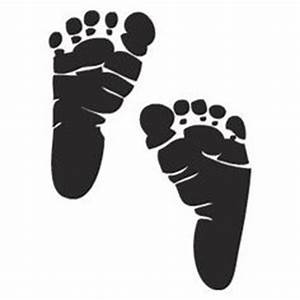 Baby Feet Silhouette - ClipArt Best