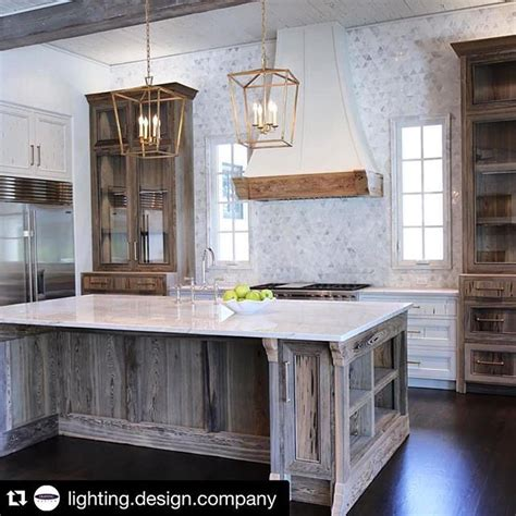 wood cabinet kitchen height cabinetry flanking rustic finishes in 1128