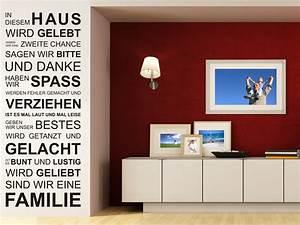 In Diesem Haus : wandtattoo in diesem haus wird gelebt geben wir eine zweite chance ~ Orissabook.com Haus und Dekorationen