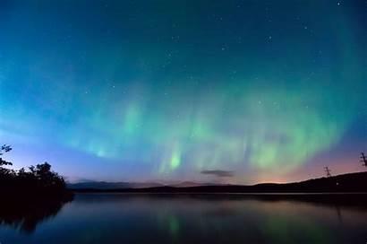 Night Polar Winter Evening Sky Finland Lights