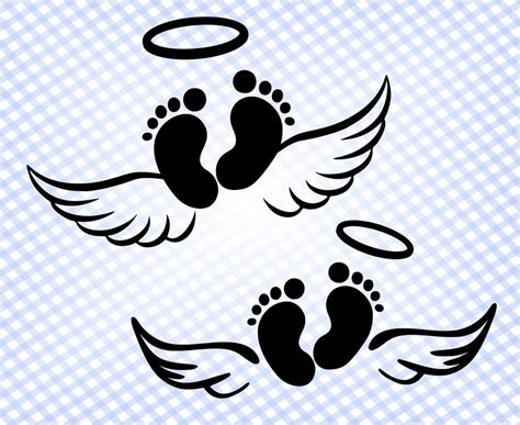 Here presented 43+ baby with angel wings drawing images for free to download, print or share. Baby angel wings svg files for Cricut Silhouette Feet | Etsy