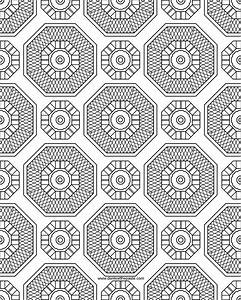 Don't Eat the Paste: Pattern and Mandala Coloring Page