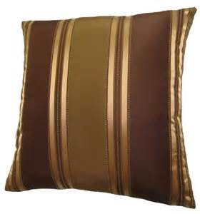new 24x24 bronze gold and brown stripes decorative throw