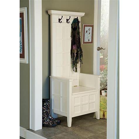 Mini White Hall Tree And Storage Bench  Free Shipping