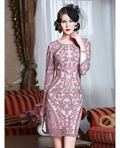 classy pink embroidery short wedding guest dress 3 4 With sophisticated dresses for wedding guests