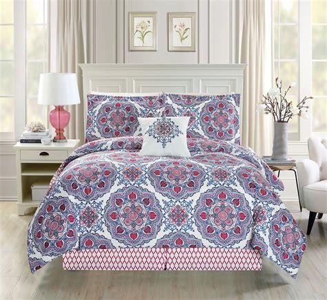 futon sets 9 medallion floral blue white bed in a bag set