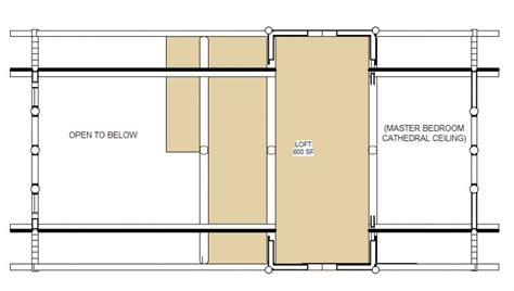 montana floor plan  sq ft cowboy log homes