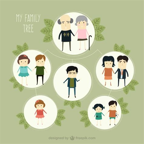 cute family tree vector