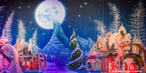 Whoville Grinch Backdrop by Whoville Backdrop Backdrops Fantastic