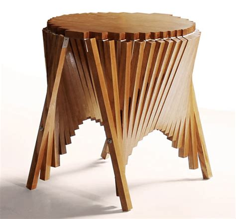 rising table rising side table by robert van embricqs design milk
