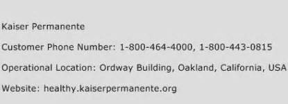 Kaiser Phone Number Kaiser Permanente Customer Service Phone Number Contact