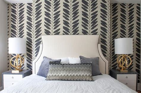 black  tan feathers wallpaper  bedroom accent wall